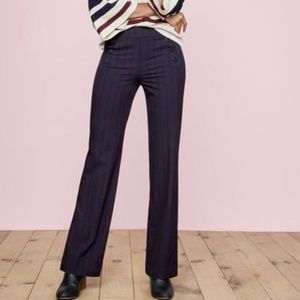 Loft Pinstripe Marisa Trouser Navy Sailor Pants